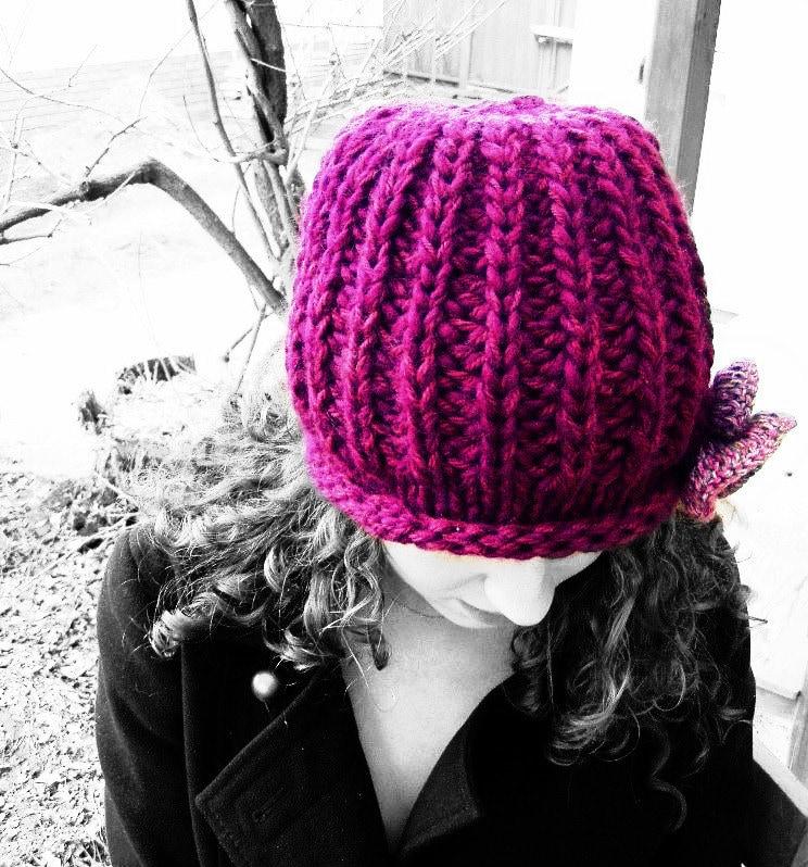 pink hat, beanie hat