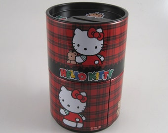Hello Kitty stacking metal bank canister - Hello Kitty bank - Hello Kitty canister - metal bank - kids bank - Hello Kitty storage container