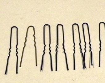 Hair pins vintage beauty shop supplies 7 Thin Brass Hair Pins