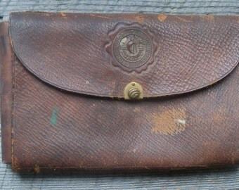 Antique Leather Case,  Hamburg Berlin Georg, German Drafting Architectural Engineering Tools