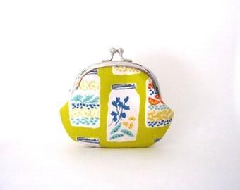 Mason Jar Coin Purse - Floral Change Purse - Coin Pouch - Mini Pouch - Womens Purse - Jewelry Purse - Cosmetic Purse - Purse Accessories