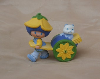 Almond Tea and Marza Panda PVC Figures, Vintage Strawberry Shortcake Friends Toy