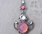 Pink Pearl Bindi - swarovski belly dance tribal fusion crystal bindi