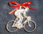 Pewter Bicycle Ornament
