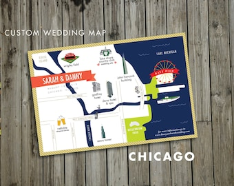 Custom Wedding Map - JPress Designs, Bahamas map, Chicago map, Boston map, modern wedding, letterpress, destination wedding, map, custom