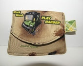 John Deere Green and Brown Tractor Little Wallet