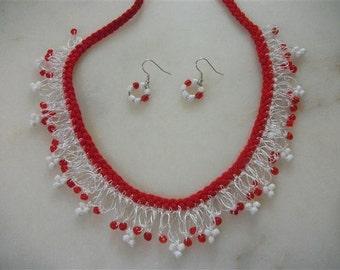 Crochet Shaky Necklaces And Earrings