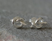 Love Knot Studs - Tie The Knot Studs - Infinity Love Earrings - Love Knot Earrings - Silver Knot Studs - Love Knot Stud Earrings - Love Knot
