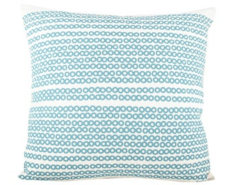 Deco Dots 20in Pillow in Sea Blue