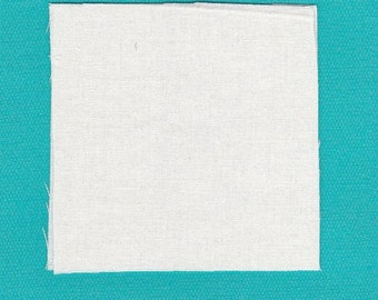 Fabric Precut 2 Inch Squares - 19 Pieces Solid White Cotton Material 4 Charm Quilting, Scrapbooking, Miniature Projects
