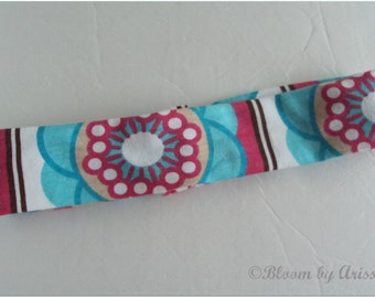 Eclectic floral print stretchy headband