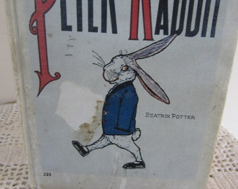 Antique Book The Tale of Peter Rabbit 1916 Color Plates