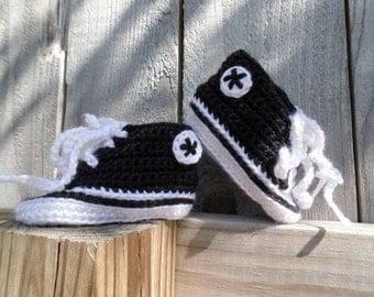 Black Crochet Sneaker Booties