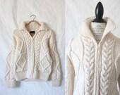 RESERVED ITEM fisherman cardigan / wool / 1990's
