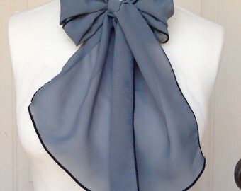 Multi Use Chiffon Hair Scarf - Slate / Charcoal Grey