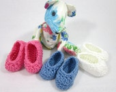 Crochet Baby Booties, Baby Shower Gift, Pregnancy Reveal Baby Slippers, Sex of Baby Revealed, New Grandma Present, Simple Infant Shoe