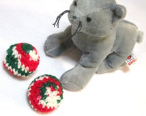 Christmas Cat Jingle Bell Balls, Kitty Cat Toys, Stocking Stuffer for Your Cat by Crocheted by Charlene