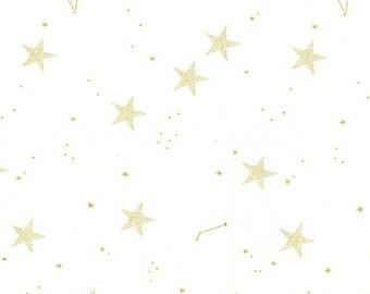 MD7194-WHIT-D Michael Miller Lucky Stars in White