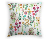 Pillow Cover - 'Botanical Finds' - Pillow Sham - Throw Pillow - 17 x17 inch - Linen Pillow - Cushion Cover- Floral Pillow Cover - Home Decor