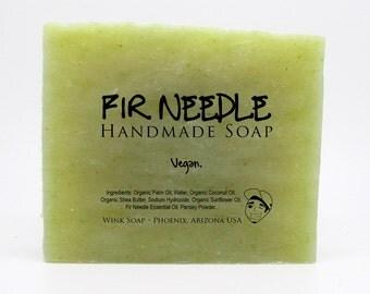 Fir Needle Handmade Soap, Vegan, Organic, 100% Natural, Essential Oils