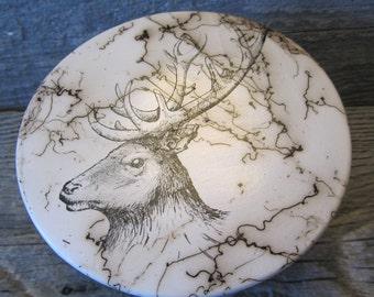 Elk Hair Pottery Trinket Box, flat top  - Made in Wyoming
