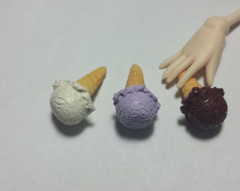 Miniature Ice Cream - 1:6 Scale Doll Food