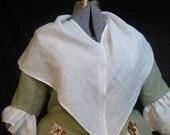 Fine linen kerchief, Fichu, 18th century accessory