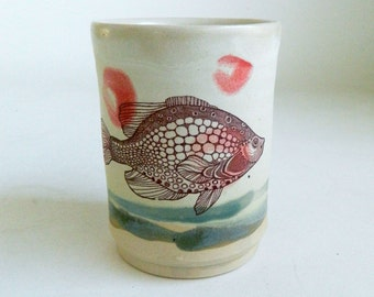 Fancy Fish Cup - tumblers, multi-colored, mix n match, ocean