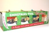 Vintage Christmas Tree Twinklers in Original Box, Boxed Set of 4 Tinkle Toy Company, Vintage Spinner Ornaments