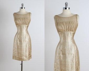 Golden Days .  vintage 1950s dress . vintage party dress . 5265