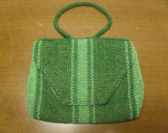 Vintage 1940's/1950's  Green Beaded Purse  Made In Germany