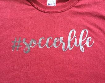 Soccer life tshirt lacross life  football life