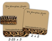 Earring Cards, Leopard Skin, Tiger Skin. Zebra Skin,  Jewelry Display, Jewelry Cards, Custom Earring Cards, Necklace Cards, Display