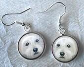 West Highland Terrier Earrings ~ February Birthday ~ Westie Earrings ~ Westie Owner ~ Dog Earrings