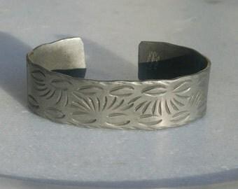 Vintage Pewter Bracelet with Southwestern Design