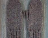 Irish Wool Mittens, Adult Women Size S/M – Made in USA