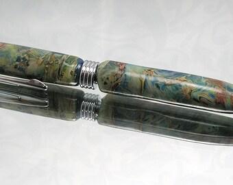 Lampworked Webbed Arke Cross Twist Pen