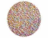 Pastel Nonpareils Edible Sprinkles  Custom Colors,Cakepops Cupcake CandyConfetti Decorations 2oz.