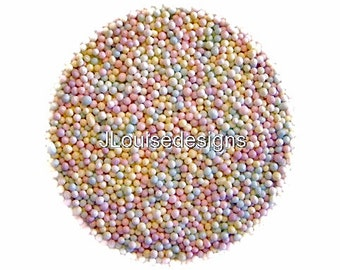Pastel Nonpareils Edible Sprinkles  Custom Colors,Cakepops Cupcake CandyConfetti Decorations 2oz.