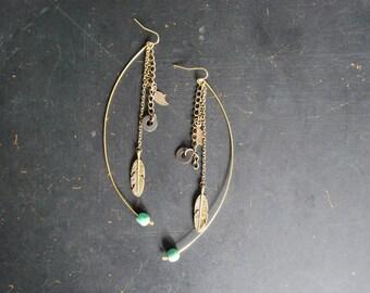 FREE Shipping - Super Long Boho Dangle Earring