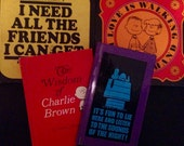 Peanuts Snoopy Charlie Brown Charles Schulz hardcover books set of 4