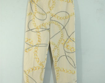 90s Equestrian Chain and Rope Print Pants