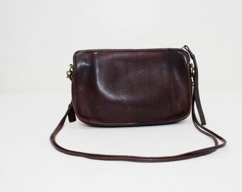 Vintage Burgundy Leather Coach Shoulder Bag Purse