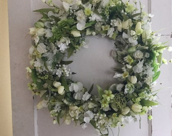 Stunning Green and White Wreath
