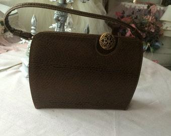 Stunning 1960's Faux Snakeskin Handbag