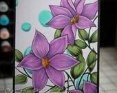 Clematis flower digi color