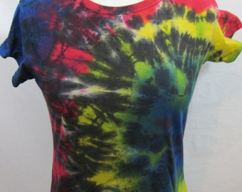 Tie dye T-shirt Size Large Rainbow Burst