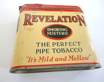 Old Revelation tobacco Tin