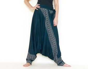 All Around The World...Printed Rayon Harem Pants