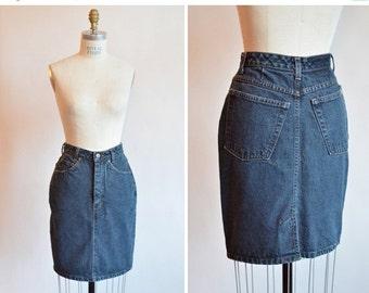 30% OFF STOREWIDE / Vintage 1990s IKEDA jean skirt